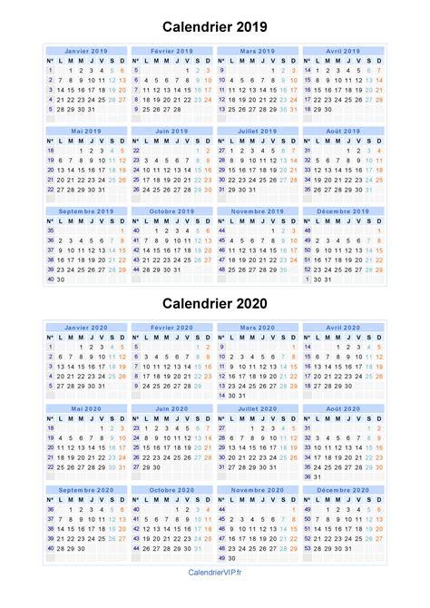 Calendrier 2019 Et 2020 Calendrier 2019 2020 224 Imprimer Gratuit En Pdf Et Excel