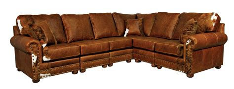 rustic sectional sofas big sky collection outlaw sectional sofa