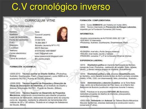 Modelo De Curriculum Vitae Inverso Oliva Tello