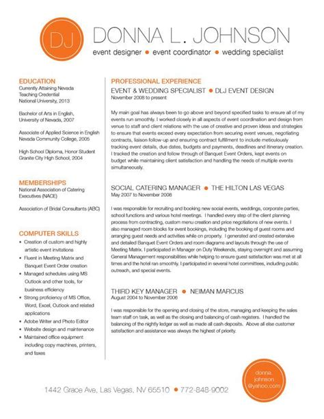 Custom Resume Templates by Custom Resume Template Color Circile Initials