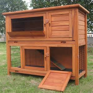 Rabbit Hutches For Sale Cheap 4ft Large Double Rabbit Hutch Guinea Pig Run Deluxe