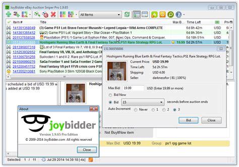 ebay download free download joybidder ebay auction sniper pro programs