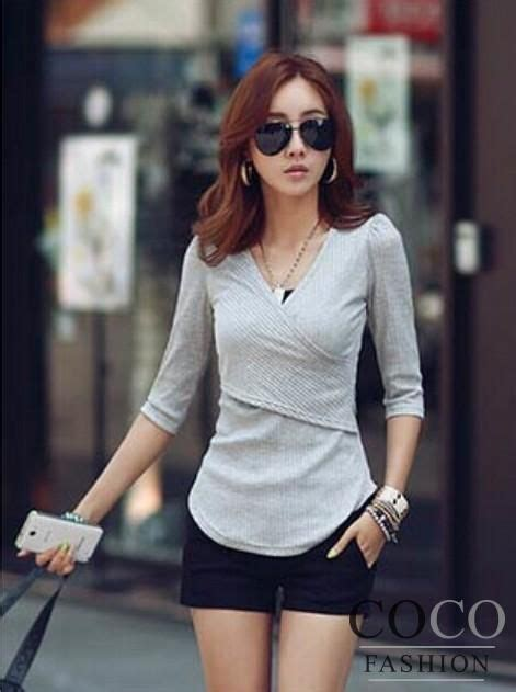 Hq 18219 V Neck Casual Blouse 33 best womens shirts images on