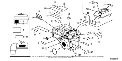 honda gx120 parts diagram honda engines gx120t1 qxs2 engine tha vin gcaat 1000001