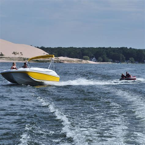 pontoon boats on lake michigan water sport rentals at silver lake michigan