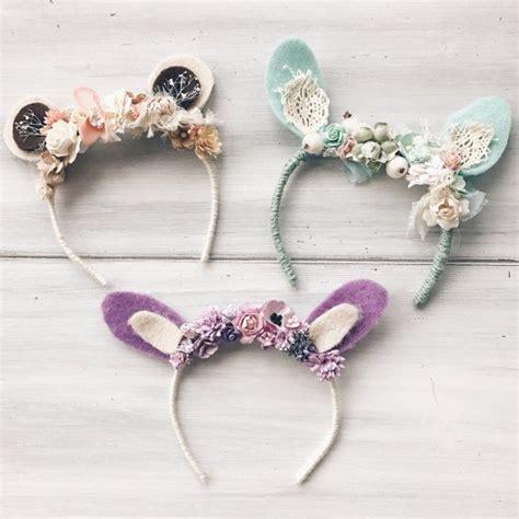 Headband Baby And Bunny Ears set of three baby headbands bunny headband newborn props