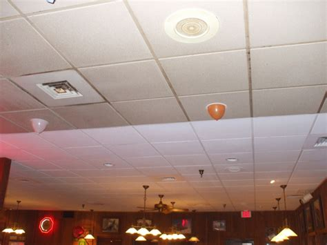 Painted Drop Ceiling The Benefits Of Spray Painting Suspended Ceilings With