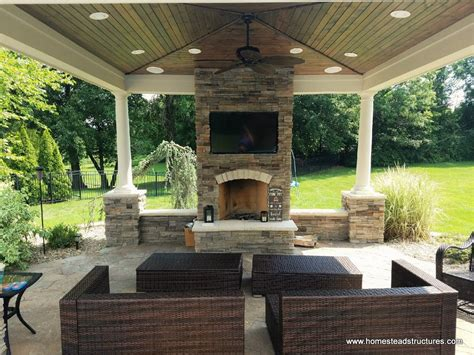 outdoor pavilions with fireplaces outdoor pool pavilions custom vinyl timber frame pa