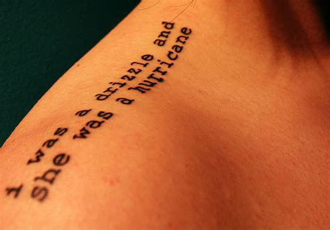 tattoo quotes shoulder blade 40 cool literary tattoos creativefan