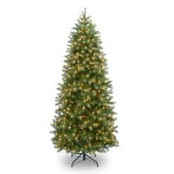prelit artificial christmas trees colorado fir slim pre