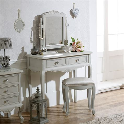 grey mirrored dressing table french grey dressing table mirror stool bedroom furniture
