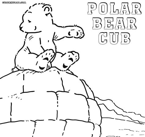 Polar Bear Coloring Pages Coloring Pages To Download And Polar Coloring Page