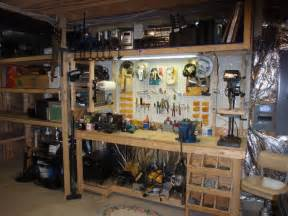 Garage With Workshop by Well Organized Garage Workshop For The Workshop Pinterest