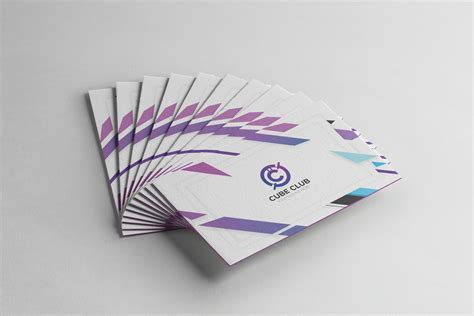 Cube Business Card Template by Cube Club Business Card Design Template 001790 Template