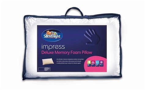 silent pillow silentnight impress deluxe memory foam pillow mattress