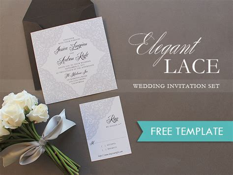 elegant wedding invitation printable free elegant lace printable wedding invitation