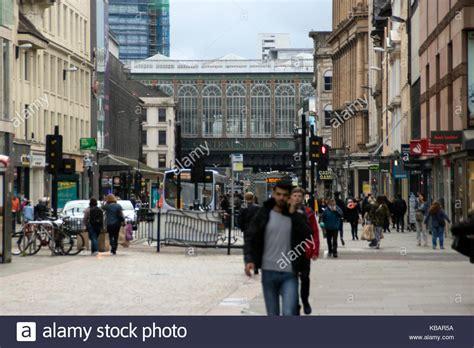 hairdresser glasgow argyle street argyle street glasgow shop stock photos argyle street
