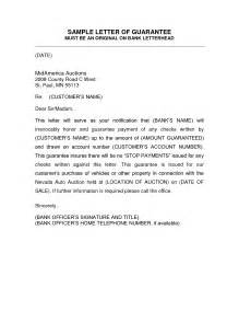 letter of guarantee template how to write a guarantor letter for employment cover