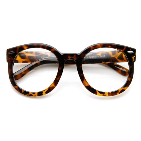 womens fashion oversized bold clear lens eye glasses