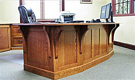 made mission style white oak office furniture by the