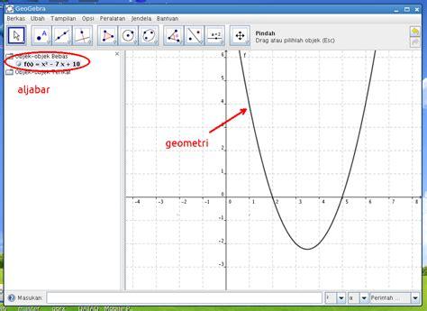 persamaan kuadrat dengan geogebra yuk belajar matematika