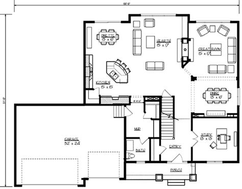 open living house plans open main floor living 73308hs architectural designs house plans
