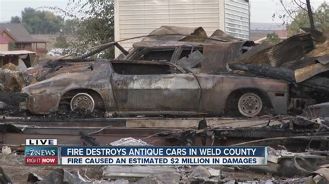 Owner estimates classic cars that burned in Weld County