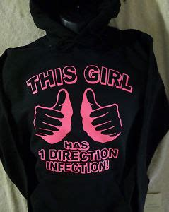 Hoodie Pink Write One Direction this has one direction infection hoodie pink print sweatshirt pullover ebay