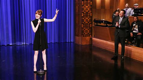 emma stone lip sync songs spike tv to premiere jimmy fallon s lip sync battle as