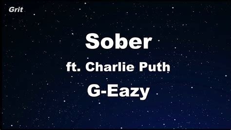 charlie puth g eazy sober ft charlie puth g eazy karaoke with guide melody