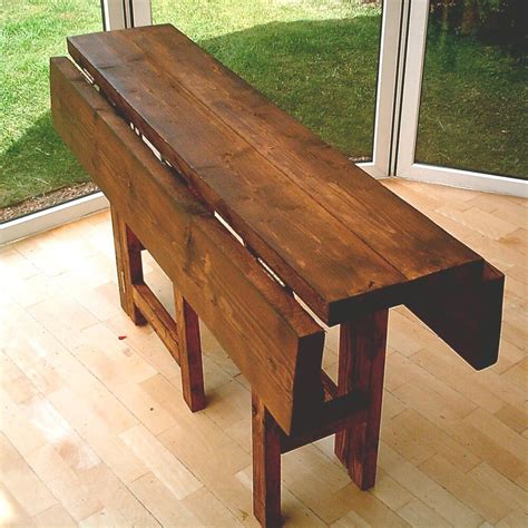 hand  rustic drop leaf kitchen dining table