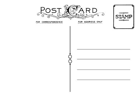Free Printable Postcards Diy Postcard Save The Date Back Wedding Stationary