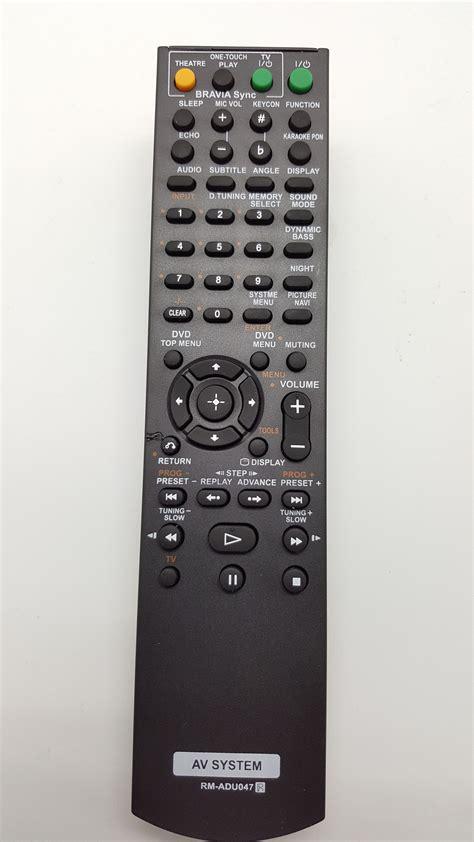remote av system sony rm adu candi audio visual