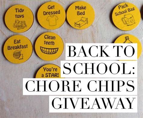 Back To School Giveaway 2017 - back to school games to go chore chips giveaway gift grapevine