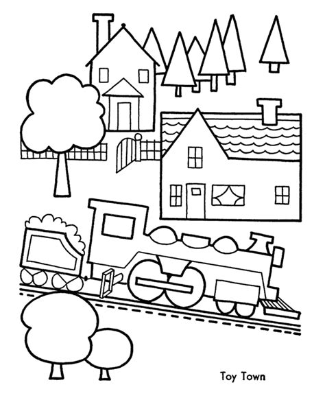 town coloring pages coloring home