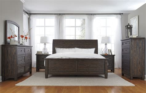 black brown bedroom furniture trudell brown bedroom set from b658 54 57 96