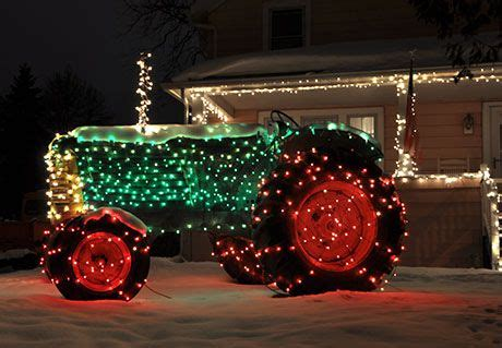 tractor christmas lights the holidays pinterest