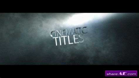 after effects titles templates videohive cinematic title 187 free after effects templates