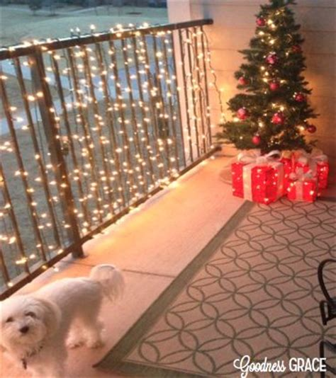 apartment porch outdoor christmas and apartments on pinterest