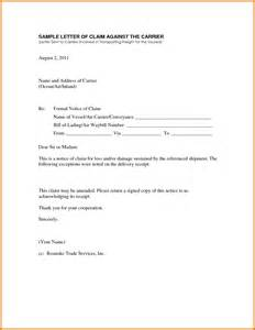 8 claim letter sample itinerary template sample