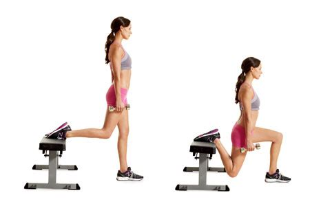 dumbbell bench lunges the bulgarian split squat great butt exercise to add