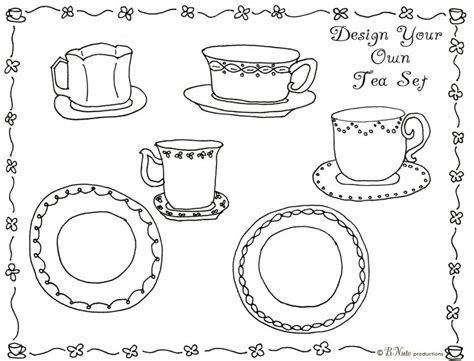 Tea Party Coloring Pages Coloring Home Tea Coloring Pages