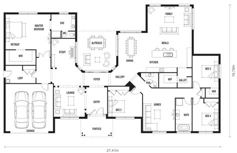 Floor Plan Friday Innovative Ranch Style Home Australian Family House Plans