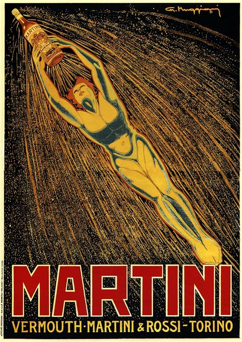 martini poster martini 1921 italy drink vintage repro