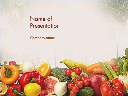 Free Download Powerpoint Templates Fruits And Vegetables Pontybistrogramercy Com Free Health And Nutrition Powerpoint Templates