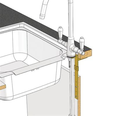 Plumb Centre Kitchen Taps by Astracast Tp0791 Universal Kitchen Tap Support Bracket