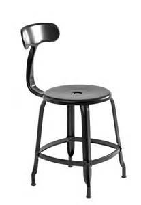 ardamez chaise nicolle noir h45 chaise d atelier en m 233 tal