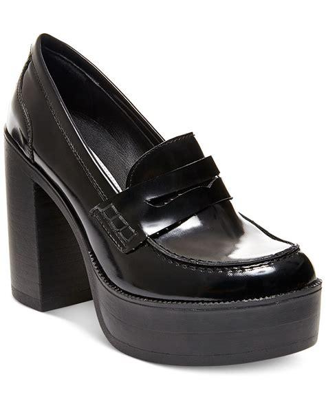 steve madden platform loafers lyst steve madden s juniper platform loafers