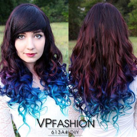 hair trends   hottest blue dip dye hair colors