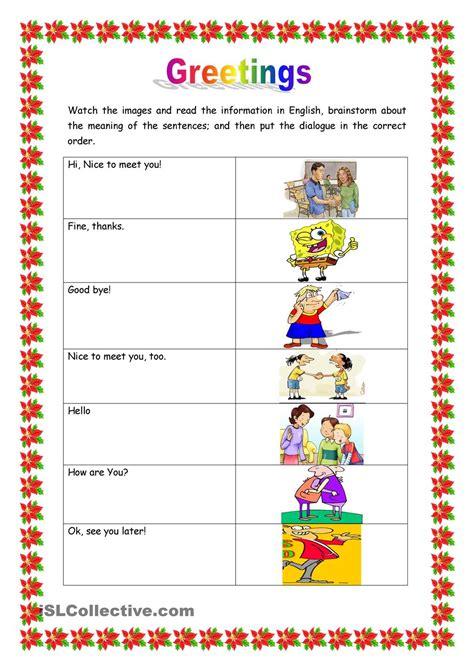 greetings worksheets for greetings education worksheets